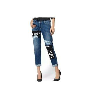 NY&CO Soho Weekender Jeans Patch Strong Beauty 10